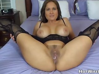 Steaming housewife is always ideally clad up for her hubby and willing to bang him
