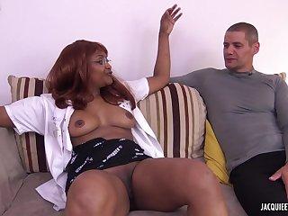 Ebony Milf Gets Copulated