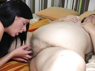 Julia O. and Romila spread and lick each others pussies