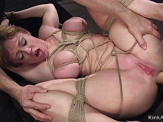 Big juggs Mommy arse coitus bdsm had intercourse