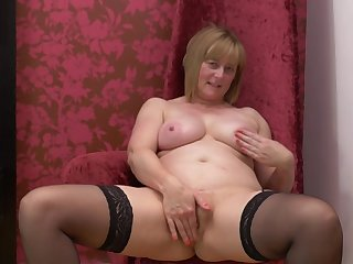 April O. strips and fingers her pussy at a dressing room
