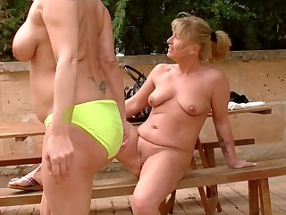 Debbie D. and Teresa Lynn masturbate while lying next to one another