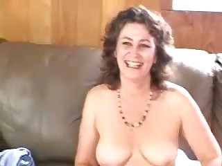 Horny bubbly mature woman passionately touches herself