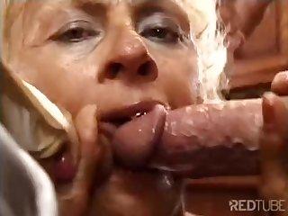 Mom kitchen double penetration