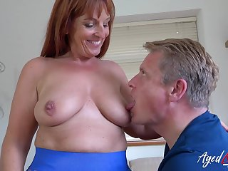 AgedLovE Exciting Mom enjoying Rough Hard Fuck Lovemaking