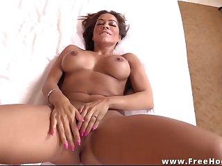 Hot busty hispanic cougar POV sex video