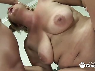 Supersized Big Beautiful Woman blond hair girl grandma gets stabbed by monster meat rod - big bum