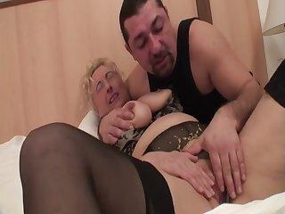 cumming on granny s tits