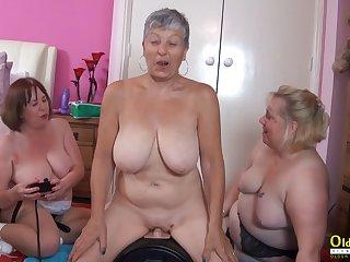 OldNannY Busty British Mature Lesbian Masturbation
