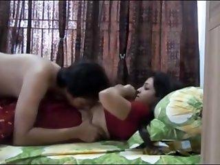 Indian duo having gung-ho orgy in their bedroom