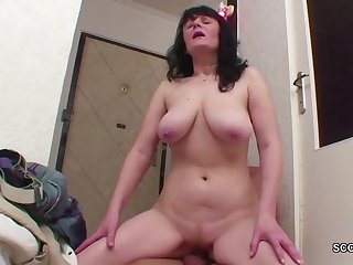 Coed Boy Seduce homeless housewife Mother to Pound with Him