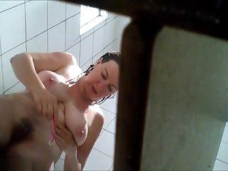 2 Different Women Shower + Dress on - Hidden Cam