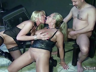 Two German Dominas In Femdom Have Sex With Her Slave In Dom - (PORN MOVIES)