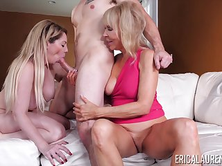 threesome with Erica Lauren and her lesbian friend is the best party ever